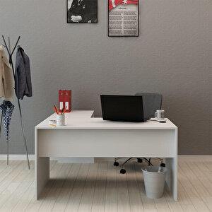 Avansas Comfort L Çalışma Masası 140 cm Beyaz buyuk 2