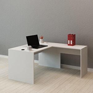 Avansas Comfort L Çalışma Masası 140 cm Beyaz buyuk 3