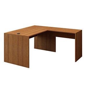 Avansas Comfort L Çalışma Masası 140 cm Teak buyuk 1