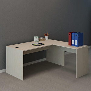 Avansas Comfort L Çalışma Masası 160 cm Akçaağaç buyuk 3