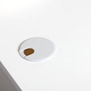 Avansas Comfort L Çalışma Masası 160 cm Beyaz