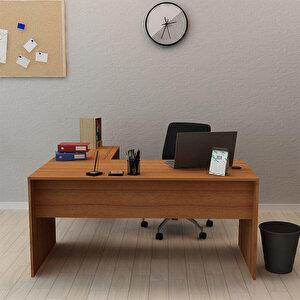 Avansas Comfort L Çalışma Masası 160 cm Teak buyuk 2