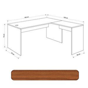 Avansas Comfort L Çalışma Masası 160 cm Teak buyuk 4