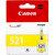 Canon 521 Sarı (Yellow ) Kartuş (CLI-521Y) kucuk 1