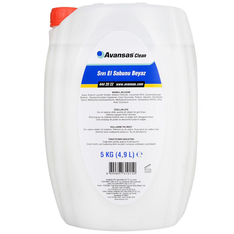 avansas clean sivi el sabunu beyaz 5 kg avansas