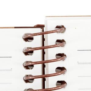 Gıpta Enviro Kraft Sert Kapaklı Spiralli Çizgili Defter 17 cm x 24 cm 100 Yaprak